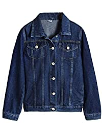 Hannah allure デニム ジャケット レディース 長袖 ジージャン ゆったり ミディアム 羽織る オーバー コート ライダースジャケット アウター
