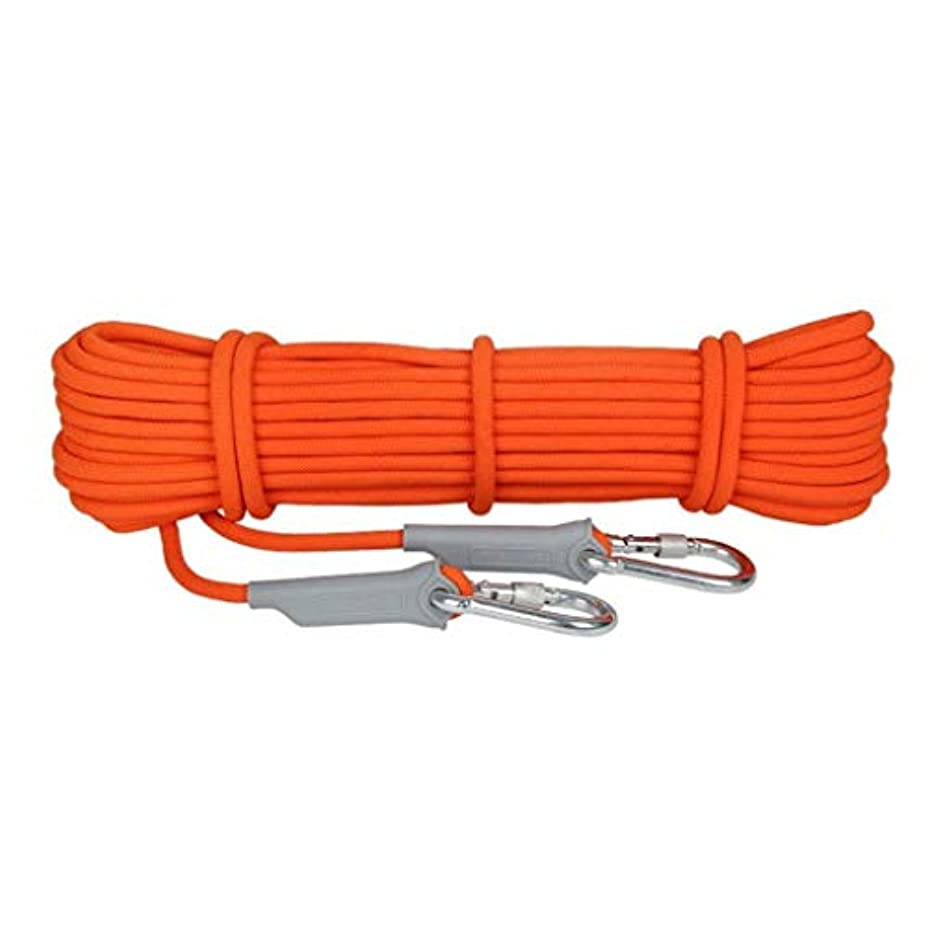 重要なソブリケットスリップ登山ロープの家の火の緊急脱出ロープ、ハイキングの洞窟探検のキャンプの救助調査および工学保護のための多機能のコードの安全ロープ。 (Color : 8.5mm, Size : 15m)