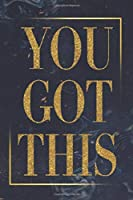 you got this: blue marble with gold glitter notebook 6*9 inch 120 College-ruled - Journal, Notebook, Composition Book) best gift for women