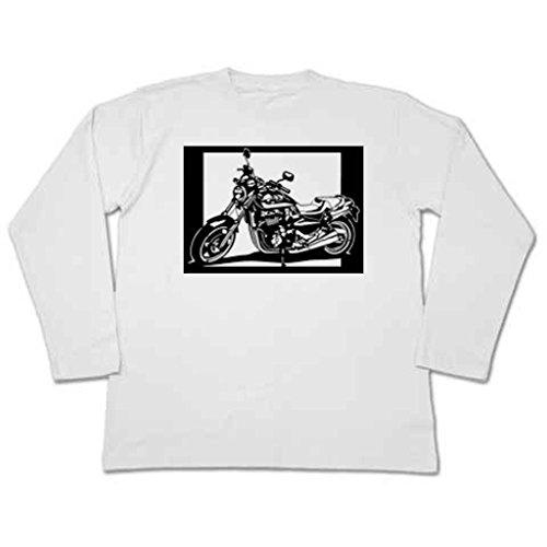 切り紙屋 メンズ 切り絵Tシャツ (長袖) ホンダ(HONDA) X4 XL ホワイト