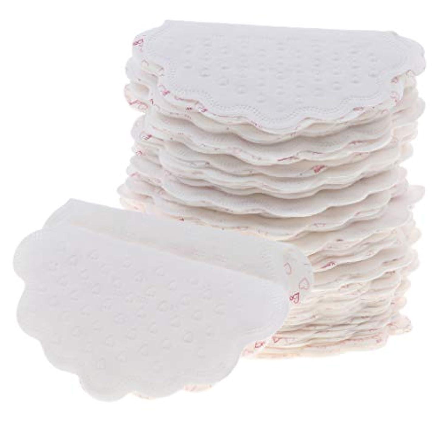 哀浮くモールワキ汗パット 汗取りパッド 使い捨て 吸収 ボディケア 脇の汗染み防止 ユニセックス 全2色 - 白
