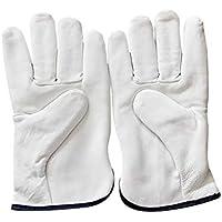 羊皮紙ウォーム手袋 サイクリング冬用手袋 アウトドアスポーツ手袋 手袋保護手袋 (Color : ホワイト, サイズ : XL)