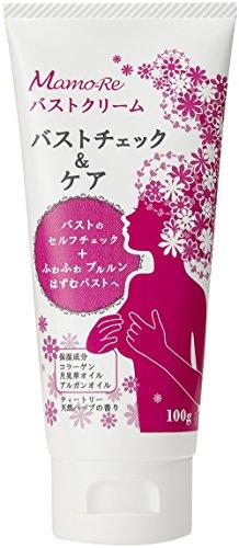 Mamo-Re (マモーレ) バストクリーム 100g 【バストチェック&ケア用クリーム】 コラーゲン ・ 月見草オイル ・ アルガンオイル 配合・ ティートリー天然ハーブの香り