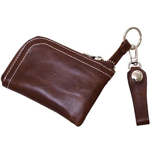 (エクサス)EXAS キーリング付き牛革コインケース(小銭入れ) ブラウン
