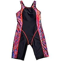 SherryDC Big Girls' Full Knee Length One Piece Swimsuit Swimwear Legsuit
