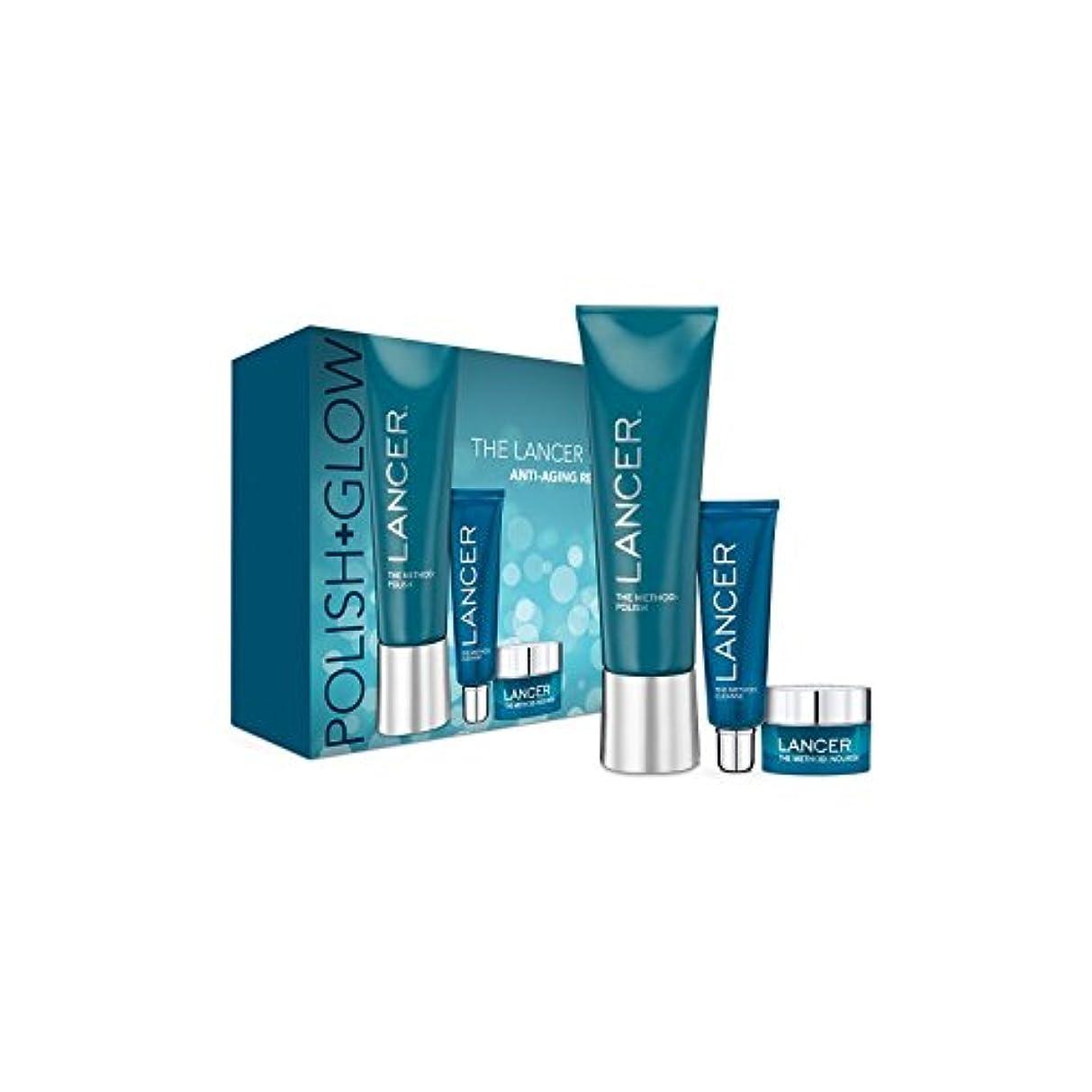 パリティ危機めまいがランサーは、この方法をスキンケア:ポリッシュ&グロー x4 - Lancer Skincare The Method: Polish & Glow (Pack of 4) [並行輸入品]