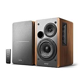 Edifier R1280T Powered Bookshelf Speakers - 2.0 Active Near Field Monitors - Studio Monitor Speaker - Wooden Enclosure - 42 Watts RMS by Edifier