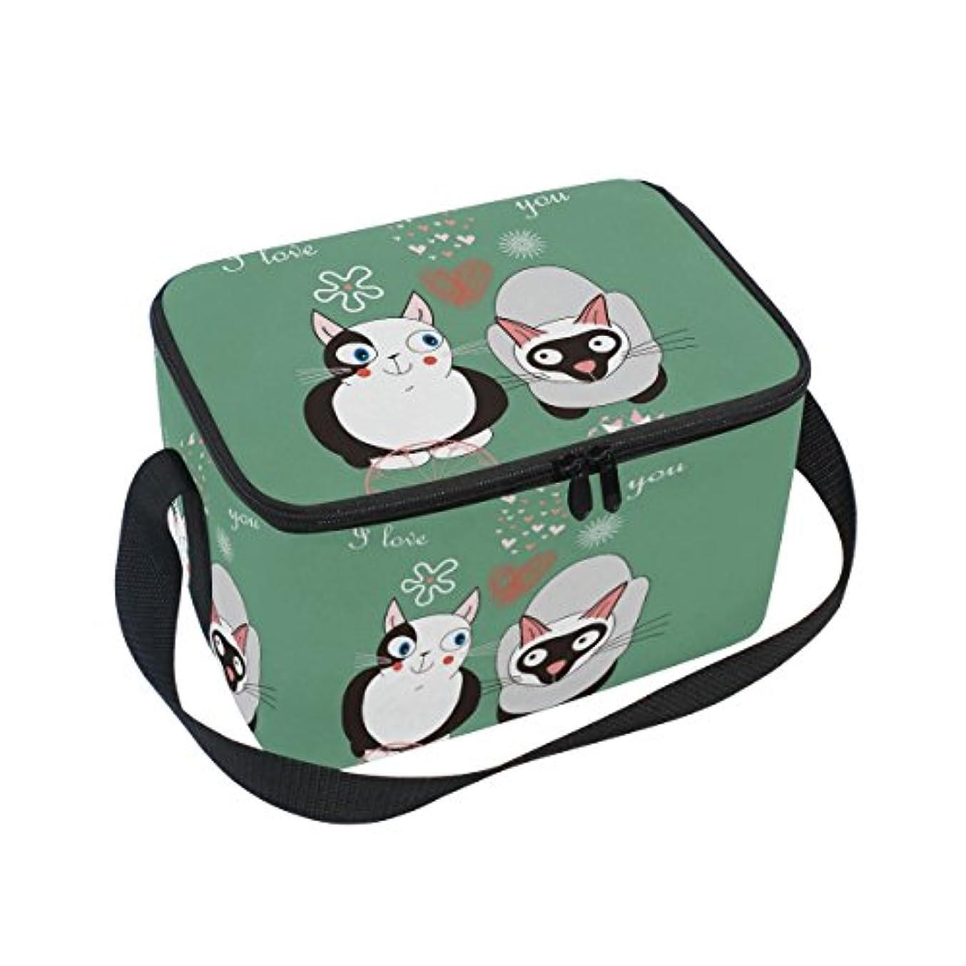 広告主繊細融合クーラーバッグ クーラーボックス ソフトクーラ 冷蔵ボックス キャンプ用品  猫柄 仲間 保冷保温 大容量 肩掛け お花見 アウトドア