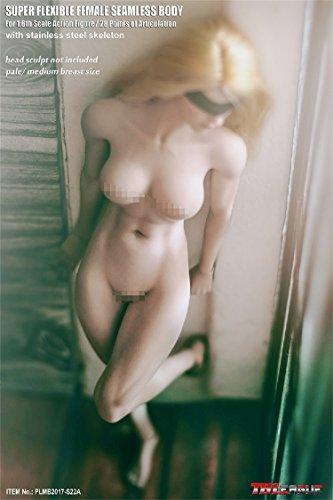 秘部・リアル【TBLeague】1/6 フィギュア 女性 超柔軟性・シームレス 素体 白色肌 ペールシリーズ バストサイズM PLMB2017-S22A