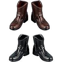 Lovoski 2ペア(2色) ファッション 1/6スケール メンズ ハイブーツ  アンクルブーツ シューズ 靴  12インチ アクションフィギュア対応