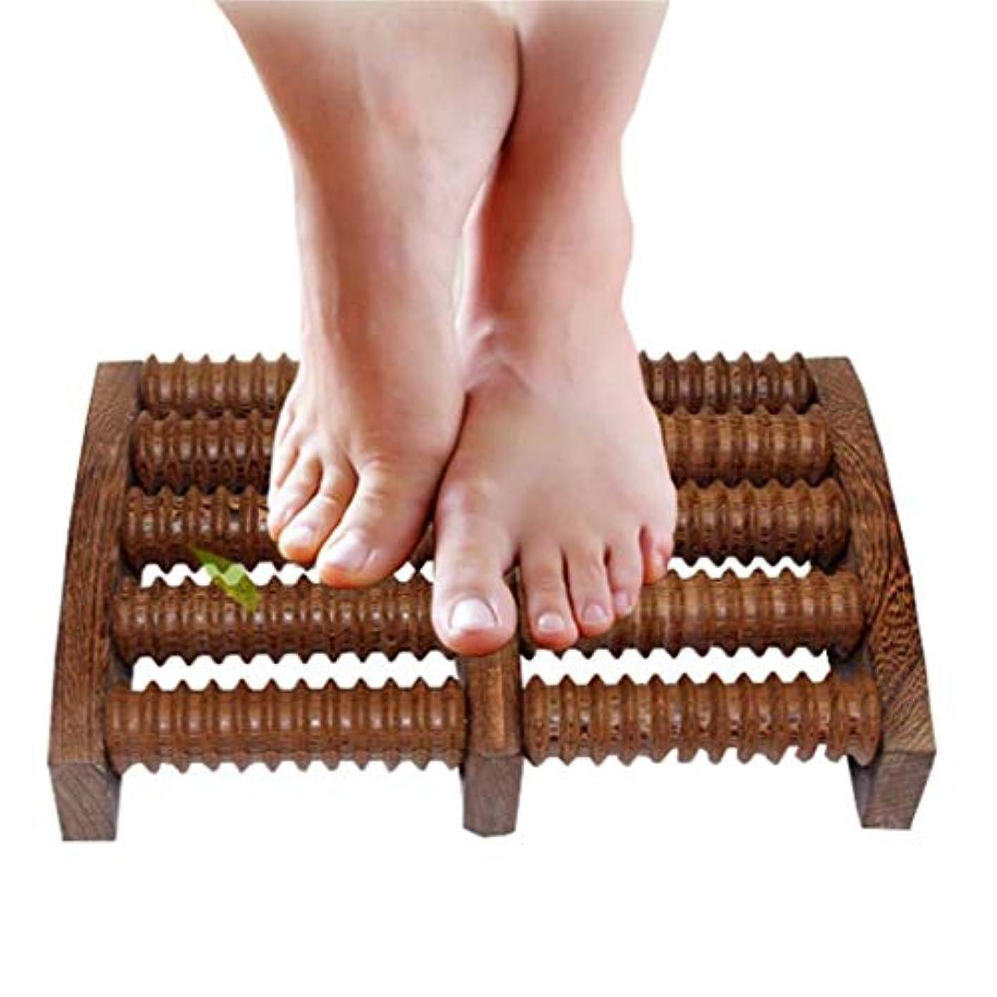 木製足裏マッサージローラーは、足底筋膜炎の治療のために圧力/かかととアーチの痛みを和らげ、筋肉と足のマッサージャーをリラックスさせます (Color : B)