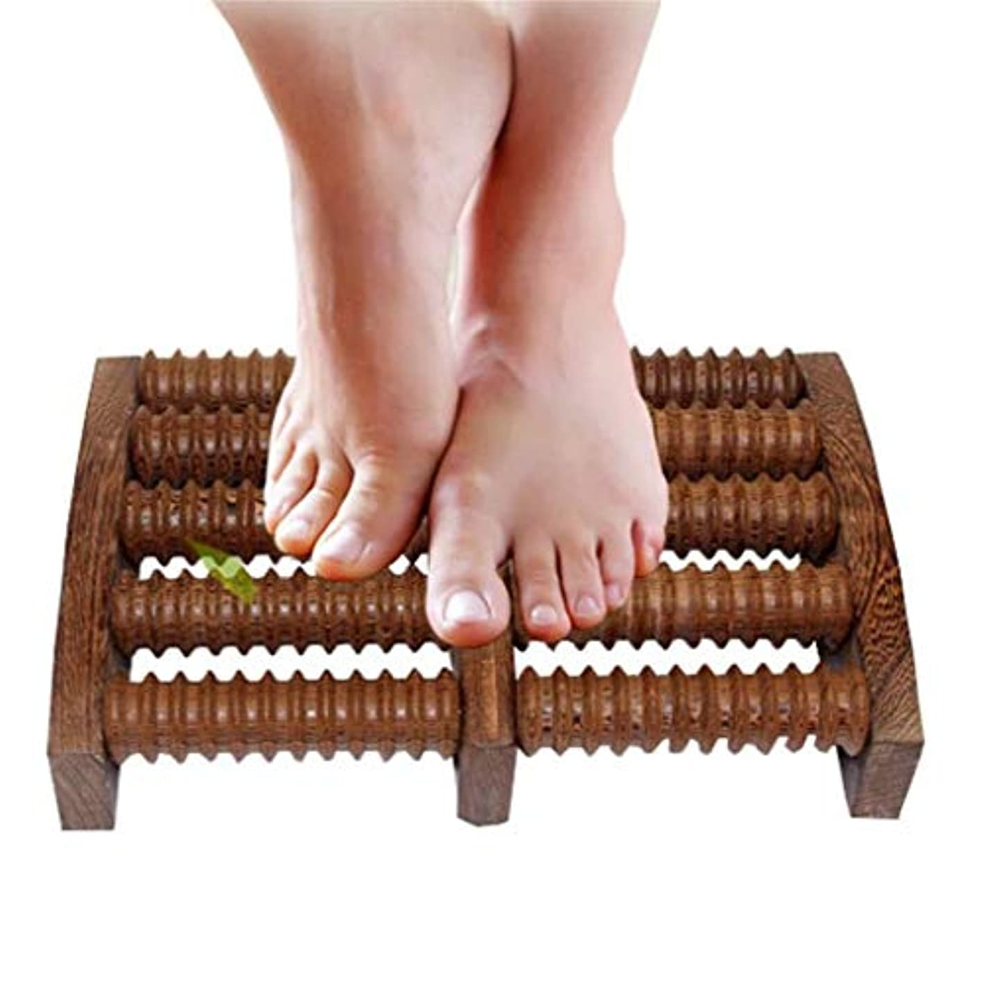 浸食とまり木貫通する木製足裏マッサージローラーは、足底筋膜炎の治療のために圧力/かかととアーチの痛みを和らげ、筋肉と足のマッサージャーをリラックスさせます (Color : B)