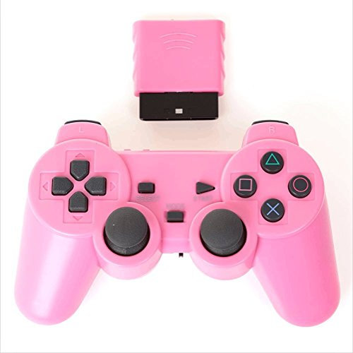 便利生活 PS2 ワイヤレスコントローラー (プレステ2で使える2.4Ghz無線コントローラー)[バルク品] (ピンク)