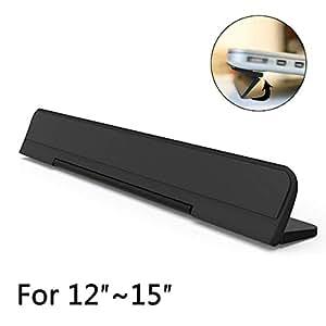 ノートパソコン スタンド フリップPCスタンド 軽量 コンパクト 折りたたみ式 冷却スタンド 傾斜 角度 放熱 Kickflip MacBook Pro/Air/iPad タブレット対応 12-15インチ (ブラック)