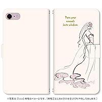 スマホ スマートフォン 手帳 スマホケース ガーリーガール 【341_ガーリーガール オレンジ|LG style L-03K】