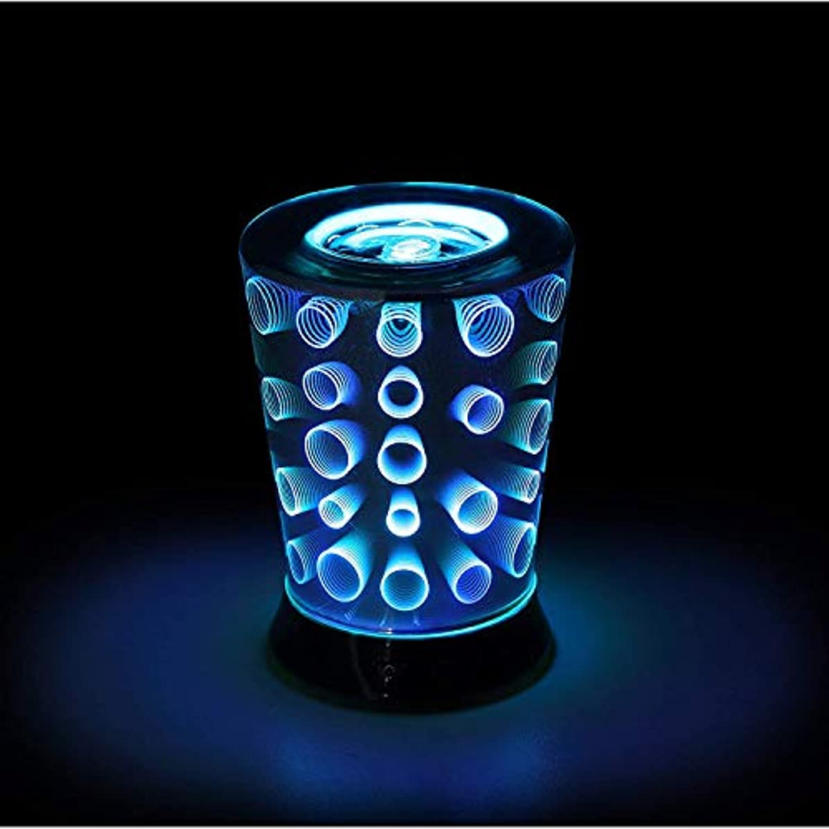 抽象化中央困惑KENWELL 3D Aroma Essential Oil Diffuser, Circle Aromatherapy Essential Oil Aroma Diffuser Ultrasonic Humidifier...