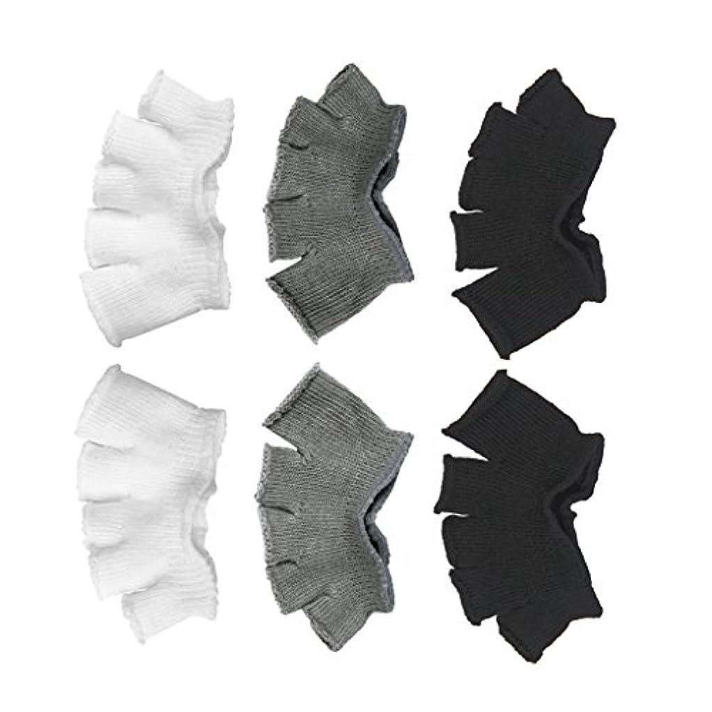 連邦埋めるラックFootful 5本指カバー 爽快指の間カバー 3色(12枚入) 6ペア 男女兼用 足の臭い対策 抗菌 防臭 フットカバー ブラック/ホワイト/グレー