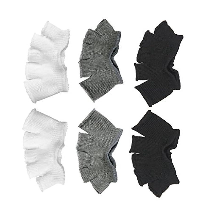 相対性理論ゲージ落ち着いてFootful 5本指カバー 爽快指の間カバー 3色(12枚入) 6ペア 男女兼用 足の臭い対策 抗菌 防臭 フットカバー ブラック/ホワイト/グレー
