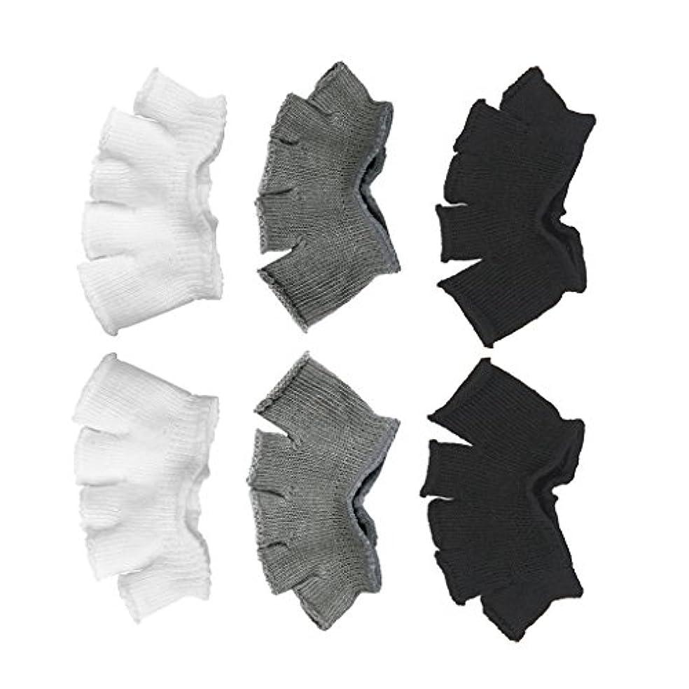 カスケードスナップ動機付けるFootful 5本指カバー 爽快指の間カバー 3色(12枚入) 6ペア 男女兼用 足の臭い対策 抗菌 防臭 フットカバー ブラック/ホワイト/グレー