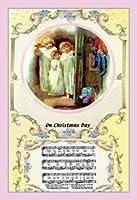 クリスマスの日中美術キャンバスプリント(50.8cmx76.2cm)
