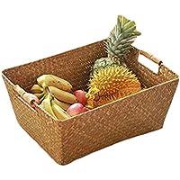 Bestmoodかご バスケット 籐風 収納バスケット 手作り 和風 果物 天然素材 野菜 お菓子 雑貨 パンかご