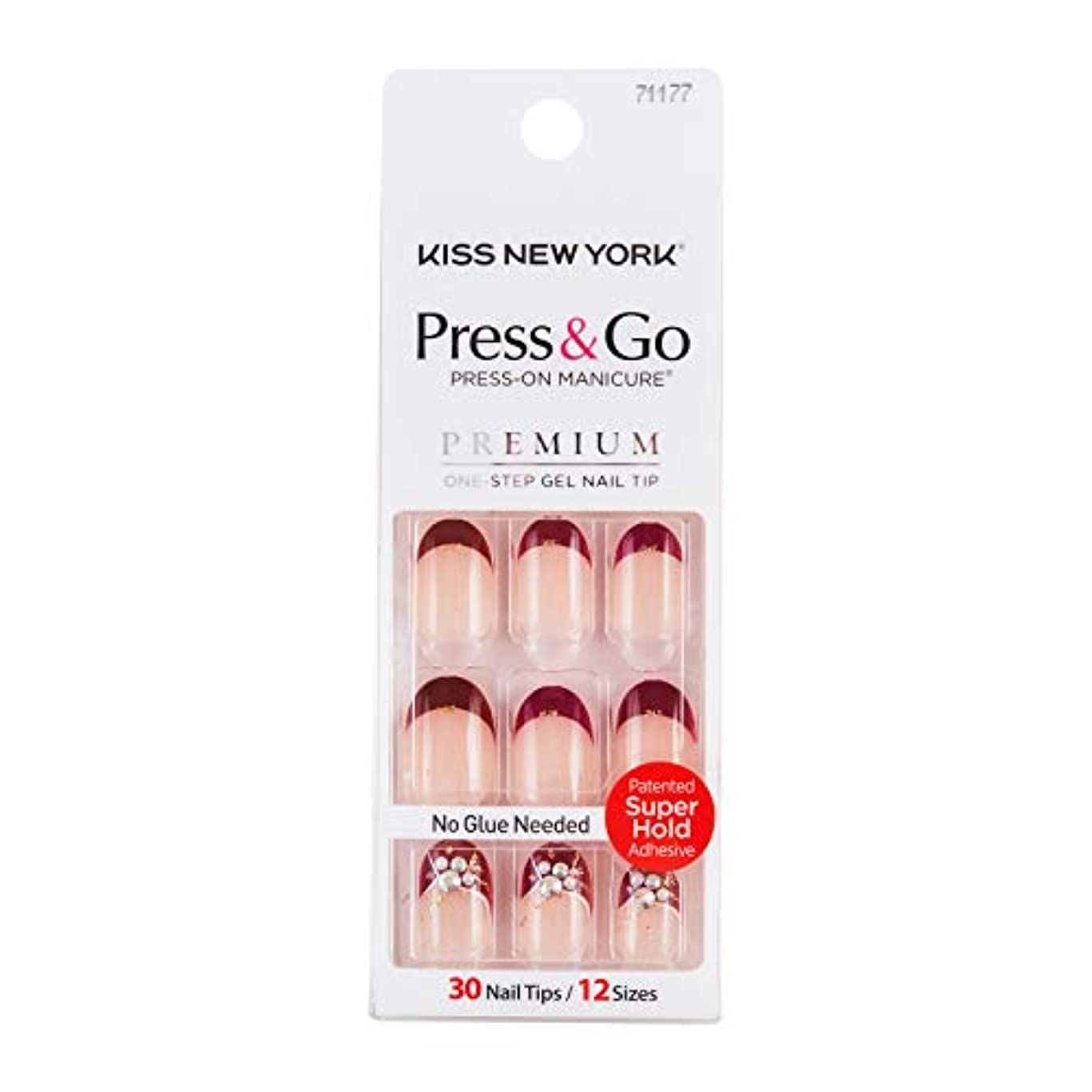 かどうか誰がセージキスニューヨーク (KISS NEW YORK) KISS NEWYORK ネイルチップPress&Go BHJ26J 19g