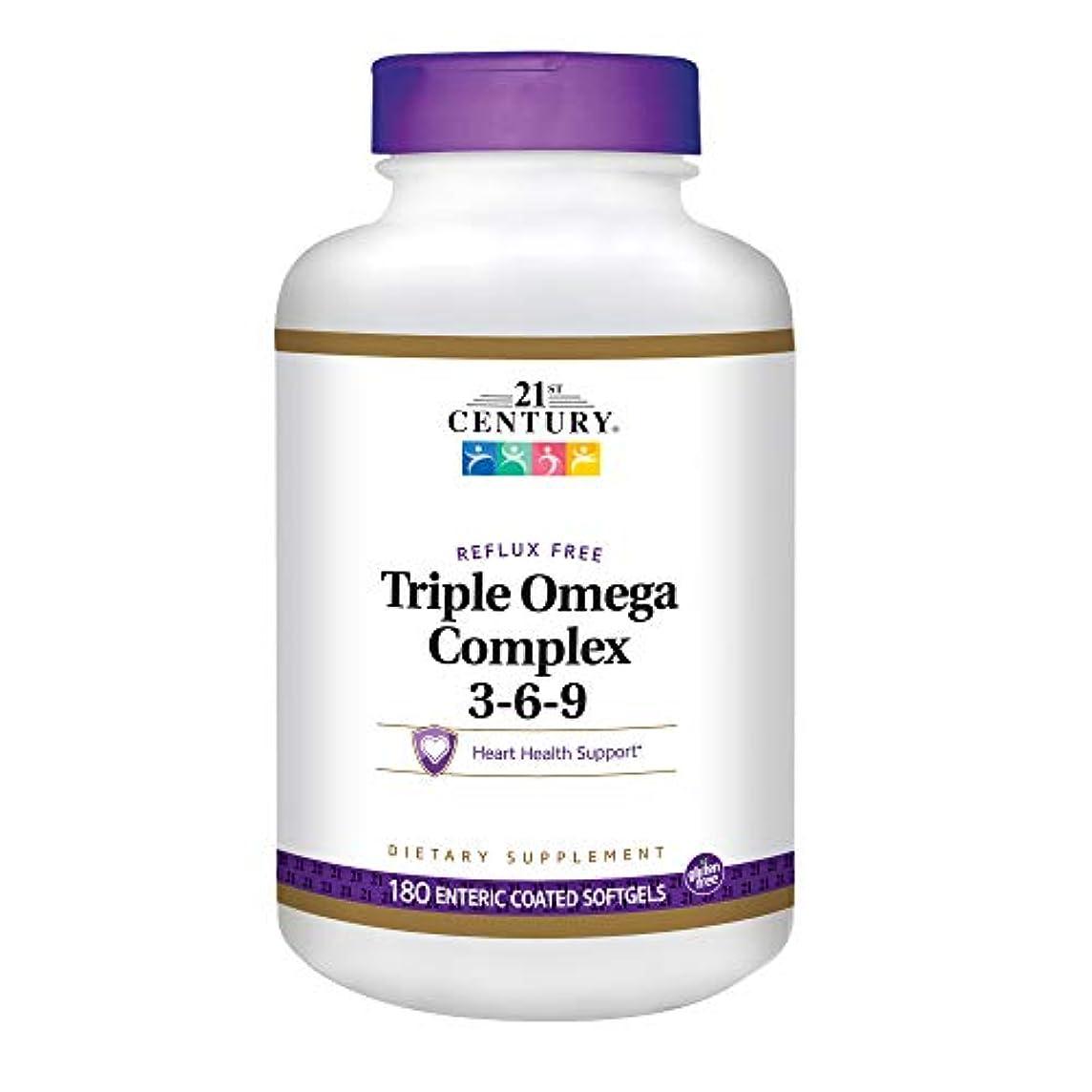 肉の嵐の北方21st Century Health Care, Triple Omega Complex 3-6-9, 180 Enteric Coated Softgels