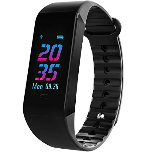 スマートウォッチ スマートブレスレット カラースクリーン 歩数計 腕時計 F40C4TMP 最新版 スポーツウォッチ 着信電話 SMS 通知 睡眠計 ウェアラブルウォッチ ios&Android対応 Bluetooth接続 IP67