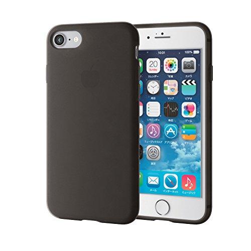 エレコム iPhone7ケース [iPhone8対応] シリコンケース シリコンケース ブラック P...