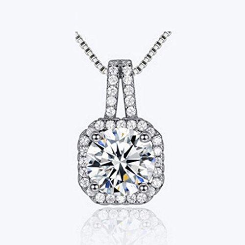 [比翼堂]レディース ネックレス 「 大きい の 一粒 ダイヤモンド 」 ステンレス CZキュービックジルコニア プレゼント 高級ケース付き