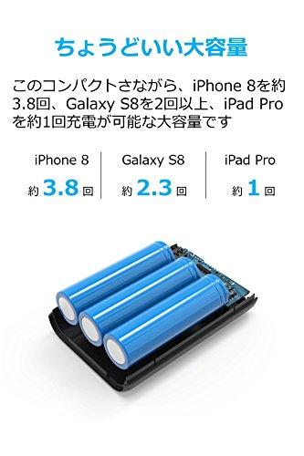 Anker PowerCore 10000 (10000mAh 最小最軽量 大容量 モバイルバッテリー) iPhone&Android対応 *2018年4月時点 (ブラック)