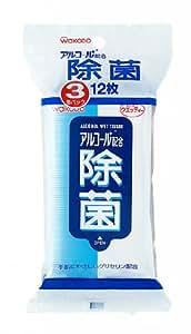 アルコール配合 除菌ウエッティー 12枚×3個パック