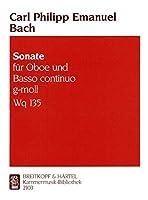 バッハ : ソナタ ト短調 Wq.135 (オーボエ、ピアノ) ブライトコプフ出版