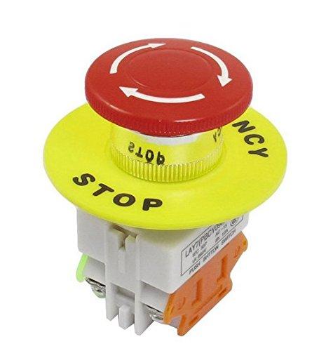 SODIAL(R)赤いキノコキャップ1NO1NC DPST非常停止押しボタンスイッチAC 660V 10A