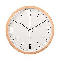 北欧現代ミニマルソリッドウッドウォールクロックリビングルーム寝室装飾的な円形ミュート腕時計日本語クォーツ時計 (サイズ さいず : 35cm)