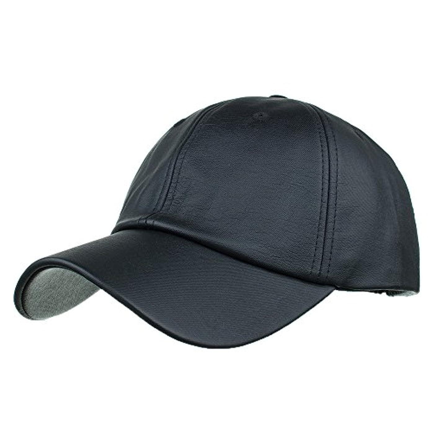 気味の悪いリークファイアルRacazing Cap PU 無地 ヒップホップ 野球帽 通気性のある 帽子 夏 登山 可調整可能 棒球帽 UV 帽子 軽量 屋外 Unisex Hat (黒)
