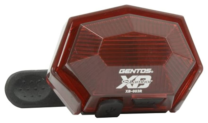 シンポジウムマイクロ程度ジェントス USB充電 テールライト XB-003R
