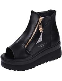 [ココマリ] 厚底 靴 シューズ 軽量 サンダル おしゃれ ショート ブーツ ヒール ウェッジソール スニーカー レディース
