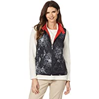 W.Lane Floral Reversible Vest Red 16