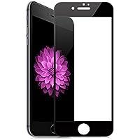 LESSEPS iPhone ガラスフィルム 全面 指紋防止 強化ガラス 硬度9H 液晶保護フィルム (iPhone8 Plus, ブラック)