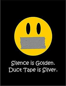 【沈黙は金なり】 余白部分にオリジナルメッセージお入れします!ポストカード・はがき(黒背景)