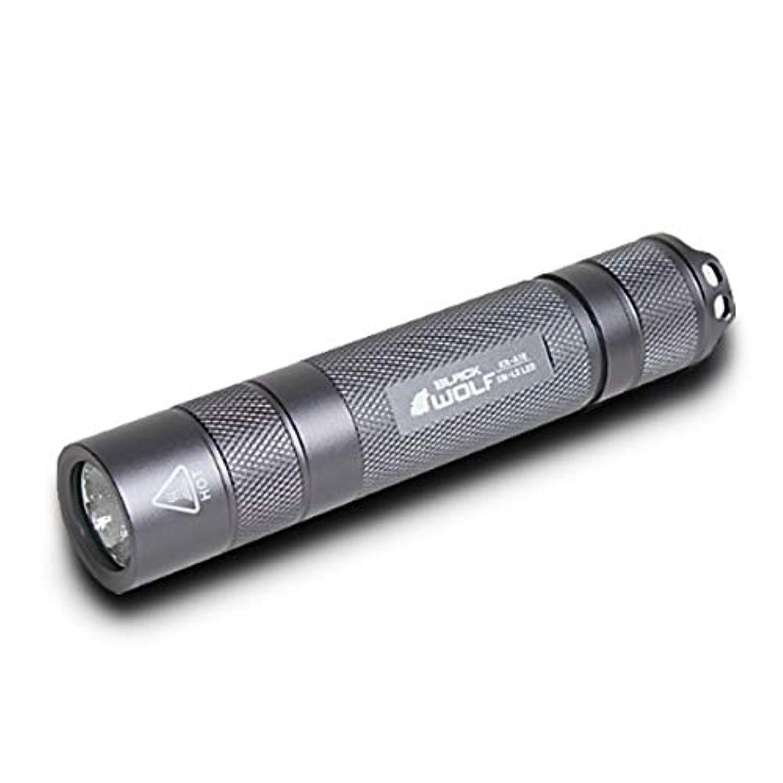 外側到着断言する【BLACK WOLF】LEDハンディライト KR-A10 ブラック CREE XLamp XM-L2 950ルーメン モード切替 モードメモリー バッテリー充電 交換アラーム/カラー選択 (ブラック)