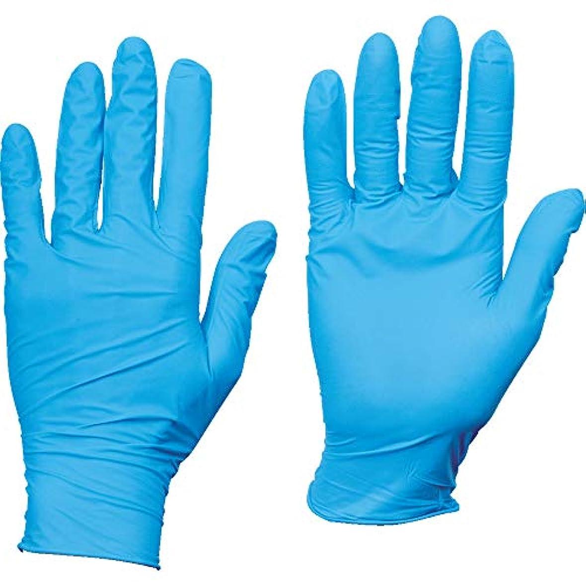 儀式食堂地震TRUSCO(トラスコ) 10箱入り使い捨てニトリル手袋TGスタンダード0.08粉無青M TGNN08BM10C