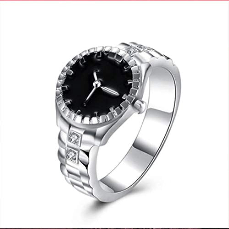 Swiftgood 男女兼用の男性女性のカップルリングは創造的な伸縮性があるステンレス鋼の指の腕時計を見ます