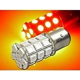 27連 高輝度LEDバルブレッド1個S25ダブル 3ChipSMD as144