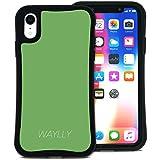 WAYLLY(ウェイリー) iPhone XR ケース アイフォンXRケース くっつくケース 着せ替え 耐衝撃 米軍MIL規格 [スモールロゴ グリーン] MK