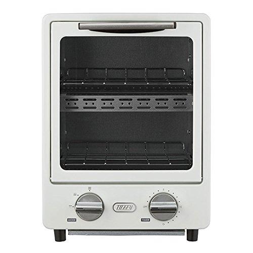 電気トースター キッチン家電 オーブントースター 2段式 時短 トースター 小型 火力調節 軽量 アッシュホワイト