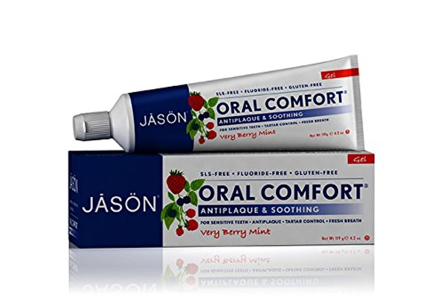 暖かさ仲間、同僚炭素海外直送品 Jason Natural Products Toothpaste Oral Comfort Non-Fluoride CoQ10 Gel, 4.2 Oz