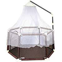 赤ちゃんの遊び場とモスキートネットのアンチロールオーバー蚊対策アンチコリジョンの幼児の遊び場アクティビティセンターの安全な幼児のフェンス (サイズ さいず : 180×66.5cm)