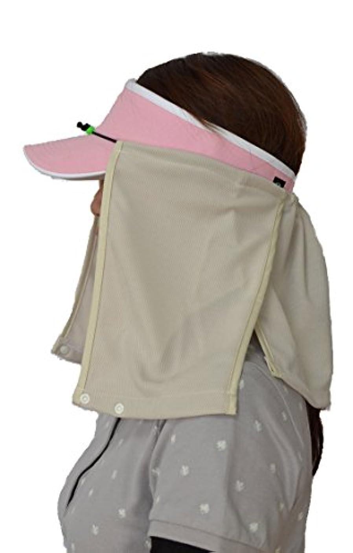 グラフコック野なUVカット帽子カバー?スズシーノ?(ベージュ)紫外線対策や熱射病、熱中症対策に最適【特許取得済】